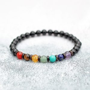 Chakra Bracelet Coconut Shell Spacers