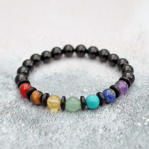 7 Chakra With Coconut Shell – 8mm