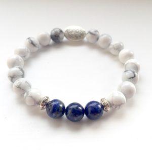 Lapis Lazuli Howlite Bracelet