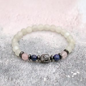 Moonstone Buddha Bracelet