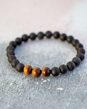 Frosted Black Onyx Tigers Eye