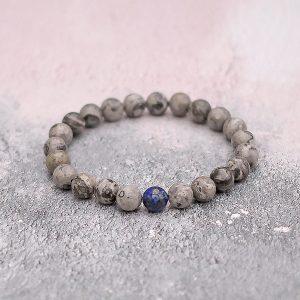 Grey Fancy Jasper Lapis Lazuli