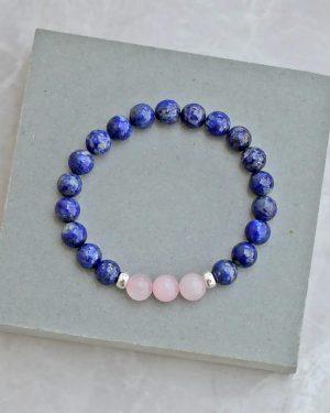 Lapis Lazuli Rose Quartz Bracelet