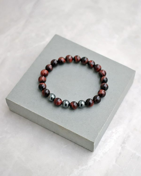 Red Tigers Eye Hematite Bracelet