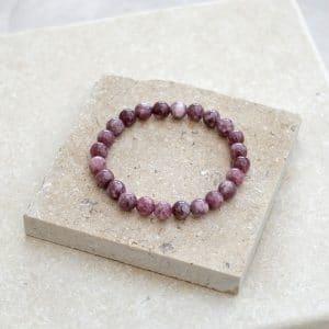 Lepidolite Crystal Bracelet