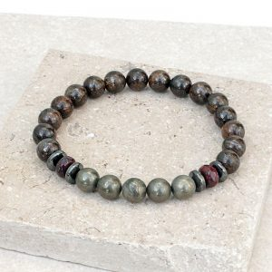 Bronzite Pyrite Power Bracelet
