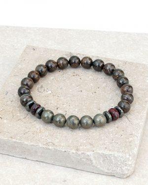 Bronzite Pyrite Power Bracelet