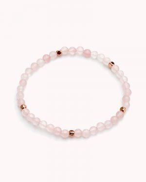 Dainty Rose Quartz Bracelet
