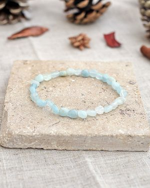 Aquamarine Pebble Bracelet