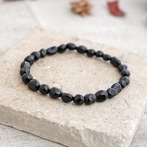 Black Tourmaline Pebble Bracelet