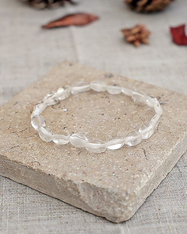 Crystal Quartz Pebble Bracelet