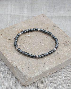 Dainty Hematite Energy Gemstone Bracelet
