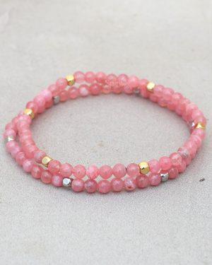 Dainty Rhodochrosite Bracelet