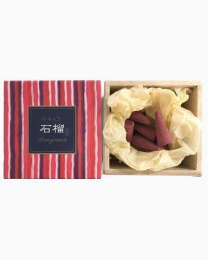 Kayuragi Pomegranate Incense Cones by Nippon Kodo