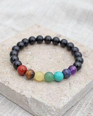 Black Tourmaline Chakra Bracelet