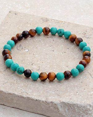 Tigers Eye & Turquoise Bracelet
