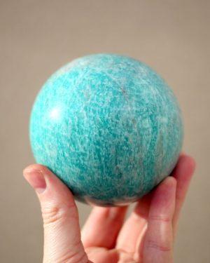 Large Amazonite Sphere | 1096 grams 93mm diameter