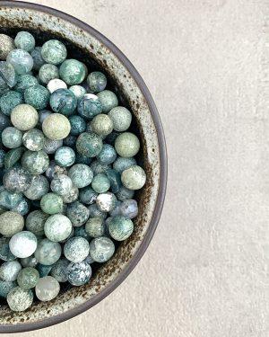 Moss Agate Tumbled Balls 50g
