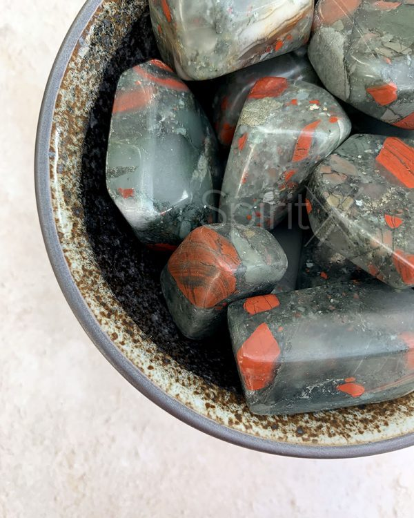African Bloodstone Tumbles 100g