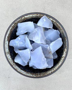 Raw Blue Chalcedony 100g
