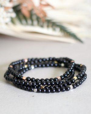 Dainty Black Tourmaline Bracelet