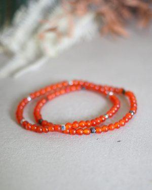 Dainty Red Carnelian Bracelet